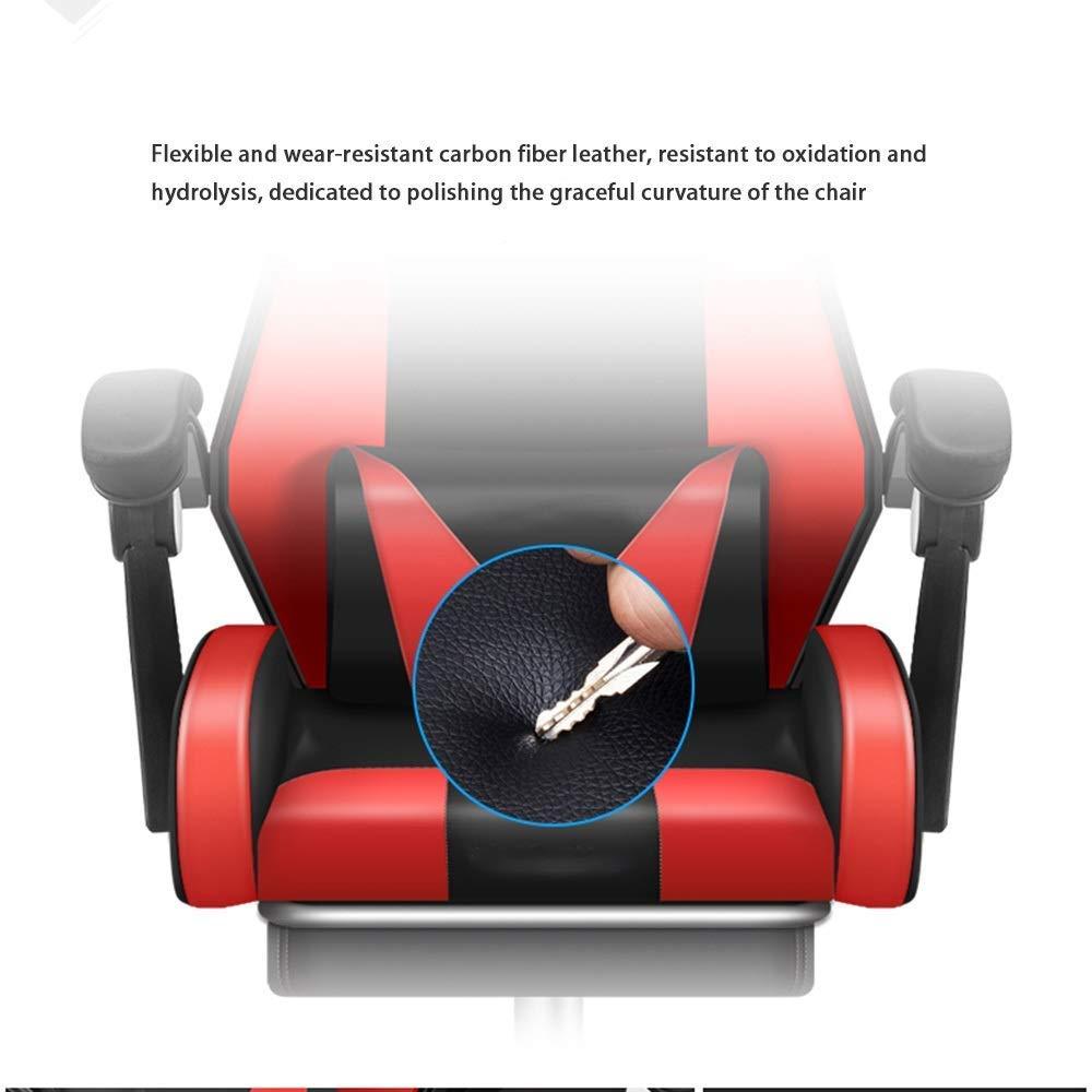 JIEER-C stol svängbar stol verkställande stol, upphöjd roterande justerbar sits rygg datorstol med massage ländrygg stöd spelstol för kontor student sovsal, blå vit blå vit