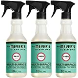 Mrs. Meyer's Clean Day Multi-Surface Everyday Cleaner, Basil Scent, 16 ounce bottle (Pack of 3)