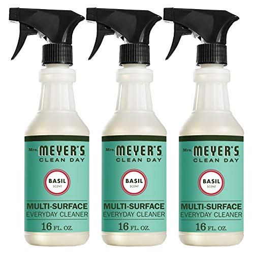 (Mrs. Meyer's Clean Day Multi-Surface Everyday Cleaner, Basil Scent, 16 ounce bottle (Pack of 3))