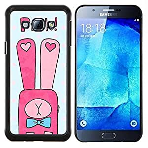 Dragon Case - FOR Samsung Galaxy A8 A8000 - we'll be together - Caja protectora de pl??stico duro de la cubierta Dise?¡Ào Slim Fit