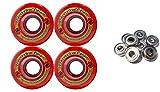 TGM Skateboards KRYPTONICS Route 62MM 78A RED Longboard Skate Wheels + ABEC 9 Bearings