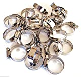 50 Brand New Stainless Steel Worm Drive Hose Clamps Diameter Range: 1'' - 1-1/2'' (25MM - 38MM) Band Width: 12.7MM Stainless Steel Bands And Adjusting Screws Will Not Rust Or Corrode SSHC112