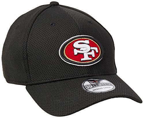 San Francisco 49ers Black New Era On-Field Sideline Tech 39THIRTY Flex Fit Hat / Cap (San Francisco 49ers Black Primary)