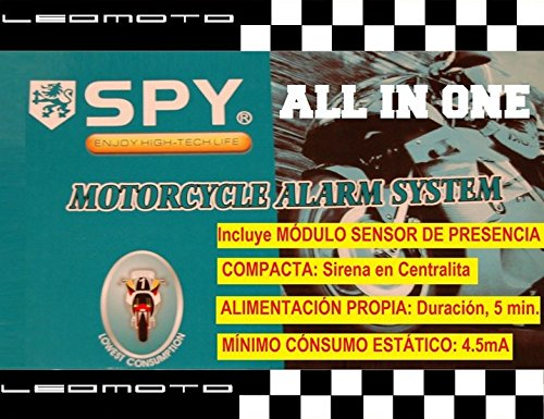 Alarma de moto SPY 'ALL IN ONE'. Compacta y autoalimentada