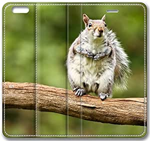 Animal Squirrel Leather Cover for iPhone 6 Plus 5.5 inch(Compatible with Verizon,AT&T,Sprint,T-mobile,Unlocked,Internatinal)