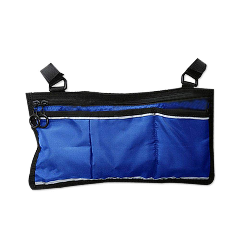 Alian Wheelchair Handrail Bag,Waterproof Oxford Cloth Wheelchair Side Storage Bag Wheelchair Cover Pouch Storage Side Bag, 13.4x7.4 Inch