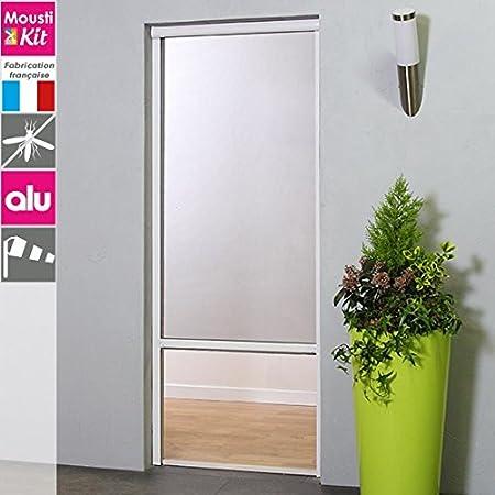 Moustikit – Estor enrollable, mosquitera de aluminio, para puerta, ventana, lienzo en fibra de vidrio – Altura recortable – hasta 230 cm, anchura recortable – de 70 a 125 cm: Amazon.es: Hogar