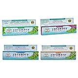 Auromere Ayurvedic Herbal Toothpaste Pack of 4 | Variety 4.16oz
