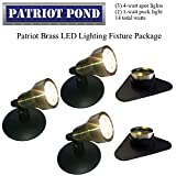 Patriot Brass LED Waterproof Pond and Landscape Lighting Fixture ONLY Kit PF-C4
