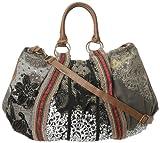 Desigual Handbags Bols C.O. Sac Puntilla Verde 30X5027 Hobo,Crema,One Size