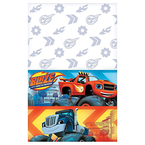 Fun Express - Blaze & Monster Machines Tablecover for Birthday - Party Supplies - Licensed Tableware - Misc Licensed Tableware - Birthday - 1 Piece