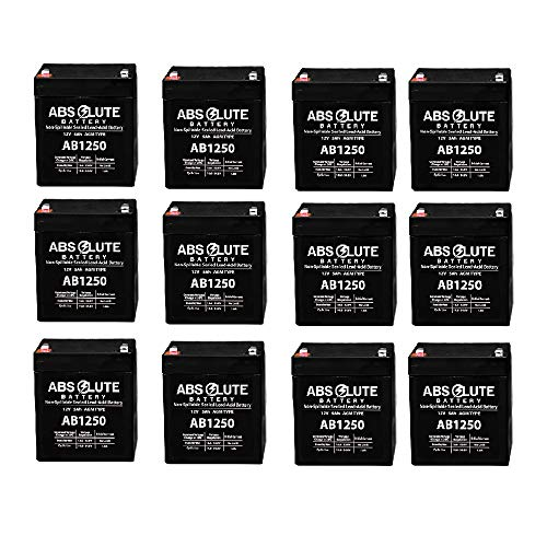 - 12 Pack New AB1250 12V 5AH SLA Replacement Battery for Tandy/Radio Shack 23-289A