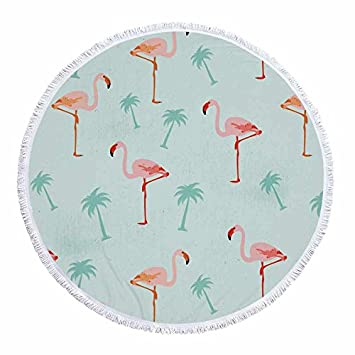 GSYAZTT Parejas Flamingo Impresas Toallas de Playa Redondas con borlas Manta 150 Cm Absorbente Soft Toalla de Toallas Grandes The Tail Color8: Amazon.es: ...