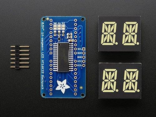 Adafruit Quad Alphanumeric Display - White 0.54'' Digits w/ I2C Backpack [ADA2157]