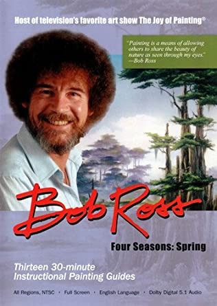 Amazon Com Bob Ross The Joy Of Painting Spring Collection 3 Dvd
