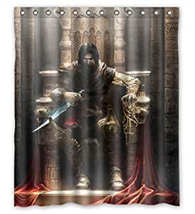 Modern design Eco-Friendly Prince of Persia the Two Thrones Shower curtain, Width * Height / 60 * 72 inch / 152 * 183cm, Polyester, best for Decorative