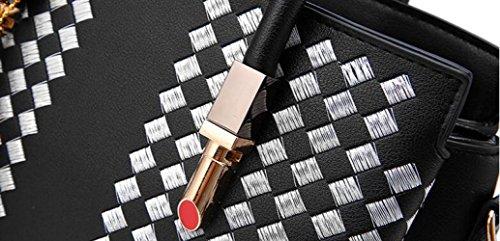 JPFCAK à Lady Main Bandoulière Lady Black Sac Bag Crossbody à Sac Sacs PU Sacs Mode rrOC71x