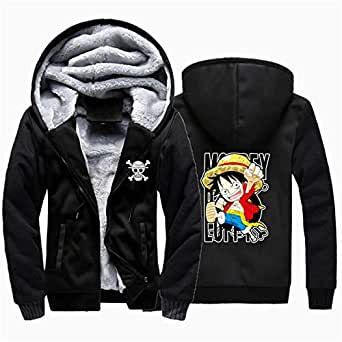 New Winter Jackets Anime Zoro Luffy Men Fashion Hooded