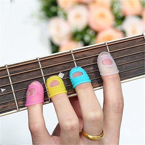 ETGtek(TM) 4 Dans 1 Guitar Fingertip Protecteurs silicone Finger Guards Pour Ukulele L Taille