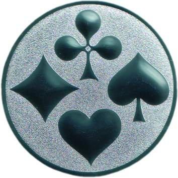 25 mm//gold Pokal Emblem Skat