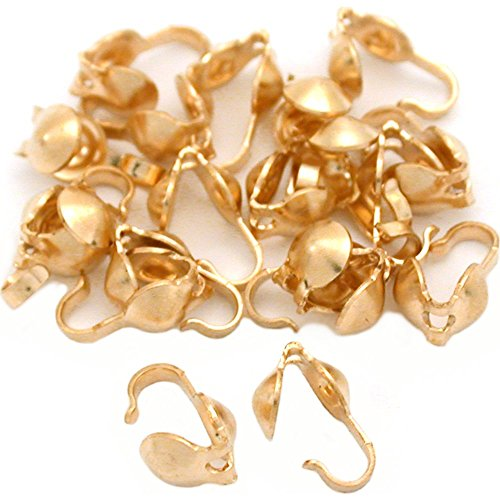 20 14K Gold Filled Clamshells Knot Covers Bead Tips ()