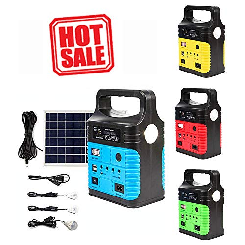UPEOR Portable Solar Generator,Portable Solar Generator with Solar Panel,Solar Power Generator Kit,Camping Fishing Emergency Electric Generator,Solar Powered Charger,Lithium Battery Backup Power