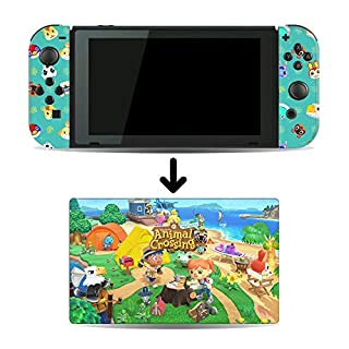 Animal Crossing : New Horizons Game Skin for Nintendo Switch Console and Dock
