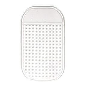 Anti-Slip Radar Detector Dash Mat, Non Slip Sticky Dashboard Pad Cell Phone GPS Holder. (Clear)