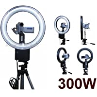 300W Continuous Video Ring Light for Sony HDR-HC9, HC5, HC3, HC7, HC1, SR12, SR11, SR5, SR1, SR7, UX1, UX7, UX20, UX10, UX5, HVR-VIU, A1U, HD1000U, Z7U, Z50