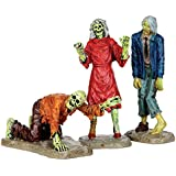Lemax Spooky Town Collection Walking Zombies, Set of 3 #42219