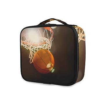 LUPINZ - Neceser de baloncesto con asa superior y organizador de ...