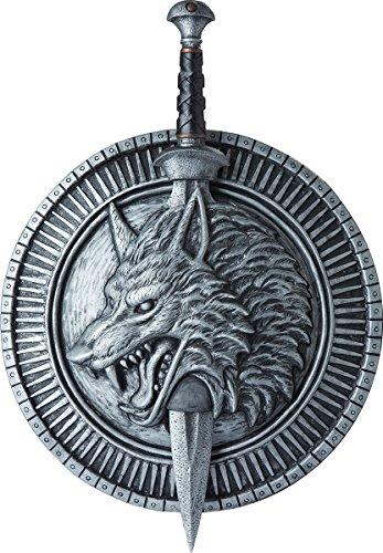 (California Costumes Men's Wolf Master Shield & Sword, Silver/Black, One)