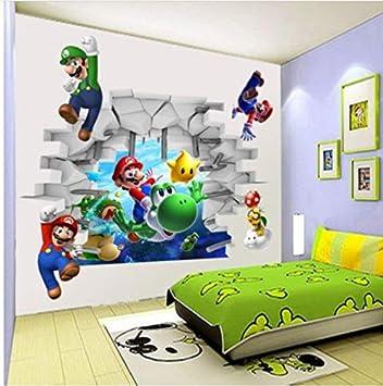 Kuangjing Dessin Anime Super Mario Bros 3d Diy Autocollant Enfant