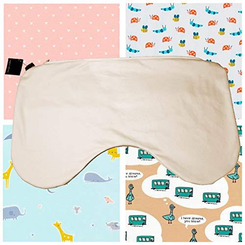 Organic Caboose Organic Cotton Nursing Pillow Cover- Natural (Cream) and Print - Nursing Organic Cover Pillow