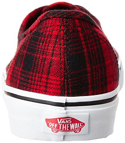 Vans Authentic Plaid Flannel Zapatillas rojo/negro rojo/negro