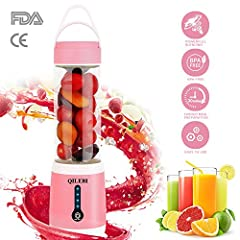 If you want one travel blender for shakes and smoothiesIf you want a mini food blenders that can make child food supplementsIf you want to make a delicate fruit drinkIf you still want to. . .QILEBI portable blender can help you ~!QILEBI Porta...