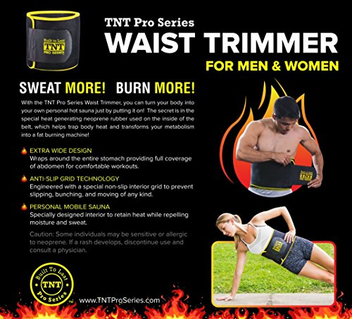 870008a99d TNT Pro Series Waist Trimmer Weight Loss Ab Belt - Premium Stomach Fat  Burner Wrap and