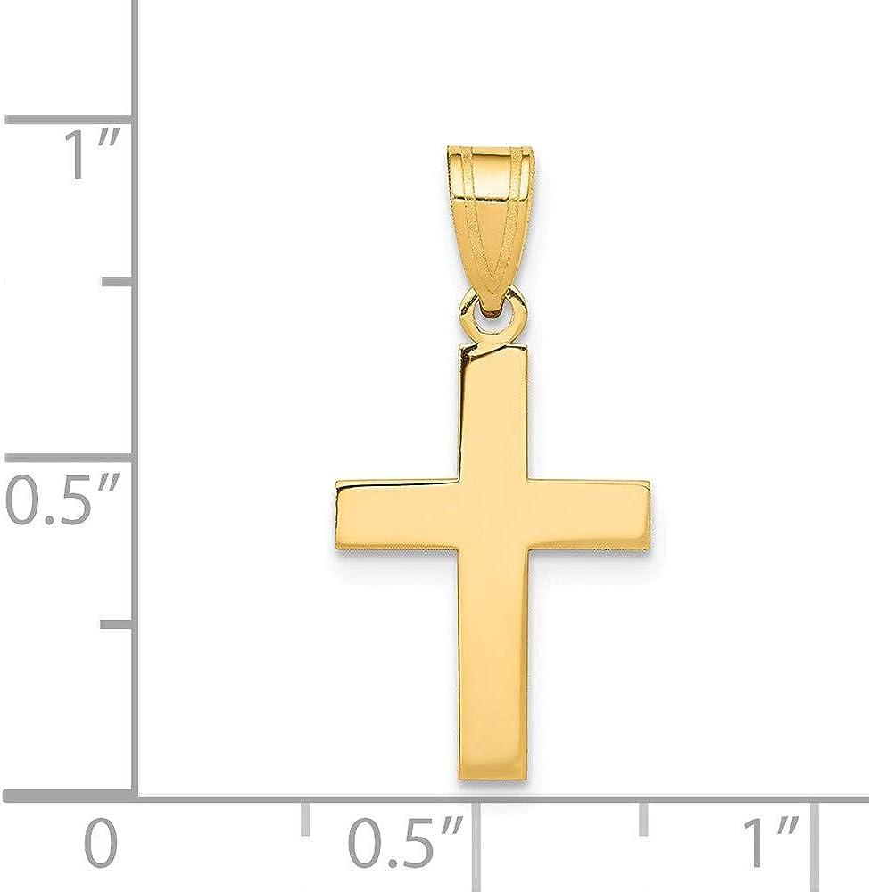14K Yellow Gold Polished Cross Pendant C3787