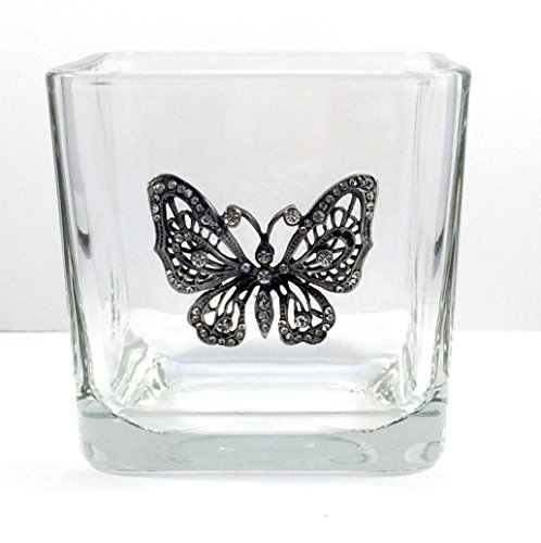 [Glass Jar made with a Costume Butterfly Brooch.] (Handmade Candy Costumes)