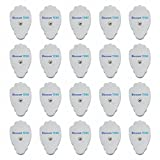 TENS Electrodes - Premium Quality Large Replacement Pads for TENS Units - 10 Pairs of Snap TENS Unit Electrodes (20 TENS Unit Pads) - Discount TENS Brand