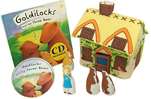 Pockets of Learning Goldilocks and The Three Bears Fabric Soft Play Set with Matching Pop-up Book and Read-Along CD for Toddlers and Children Cloth Activity Pretend Play Toy (Goldilocks And The Three Bears Activities For Nursery)