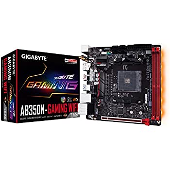 GIGABYTE GA-AB350N-Gaming WIFI (AMD/Ryzen AM4/B350/RGB Fusion/HDMI/DP/M.2/SATA/USB 3.1 Type-A/Wifi/Mini ITX/DDR4 Motherboard)