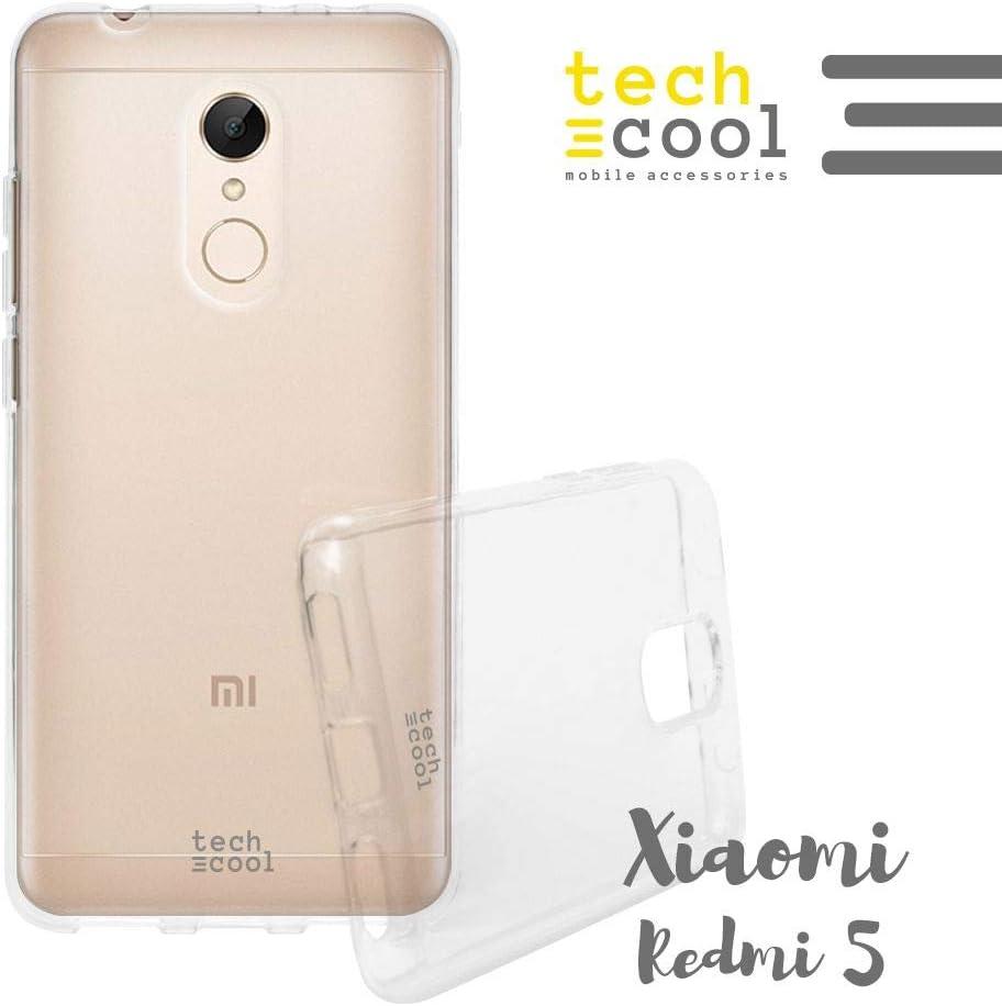 Cover Xiaomi Redmi 5 FunnyTech® Custodia in Silicone (TPU) per Xiaomi Redmi 5 Trasparénte l Flessible, Sottile (1,5mm spessore), Anti-Urto. Di qualità che impedisce l'ingiallimento