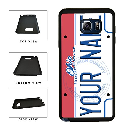 BleuReign(TM) Personalized Custom Name Ohio State License Plate TPU Rubber Silicone Phone Case Back Cover for Samsung Galaxy S8 Plus (Cleveland Indians Iphone 4s Case)