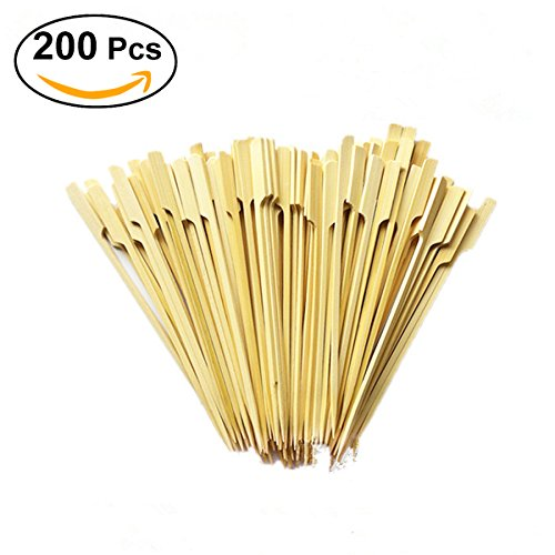 OUNONA 18cm X 200 Cocktail cooking Paddle skewer bamboo J...