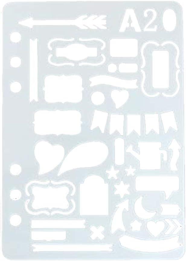 Wonque DIY Plantillas de dibujo Creatividad Kit de herramientas de dibujo para diversión herramienta de escritura 20.9cm*14.7cm A15