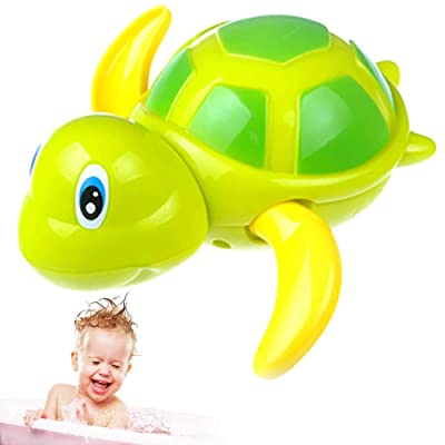 1 Pc Kids Bath Toys Bath Toy Swimming Turtles Floating Wind Up Baby Bath Toy Adorable Turtle Bathtub Toys For Toddlers Floating Toys (Blue): Toys & Games