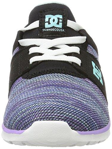 DC Shoes Mädchen Heathrow TX SE Sneaker Schwarz (Multi 2)