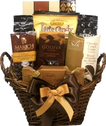 Delight Expressions® Chocolate and Coffee Lovers Gourmet Food Gift Basket - A Mother's Day Gift Idea! (Graduation Gift Baskets)