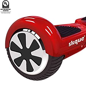 """Skque I1.1 UL2272 Smart Two Wheel Self Balancing Electric Scooter, Red, 6.5"""""""
